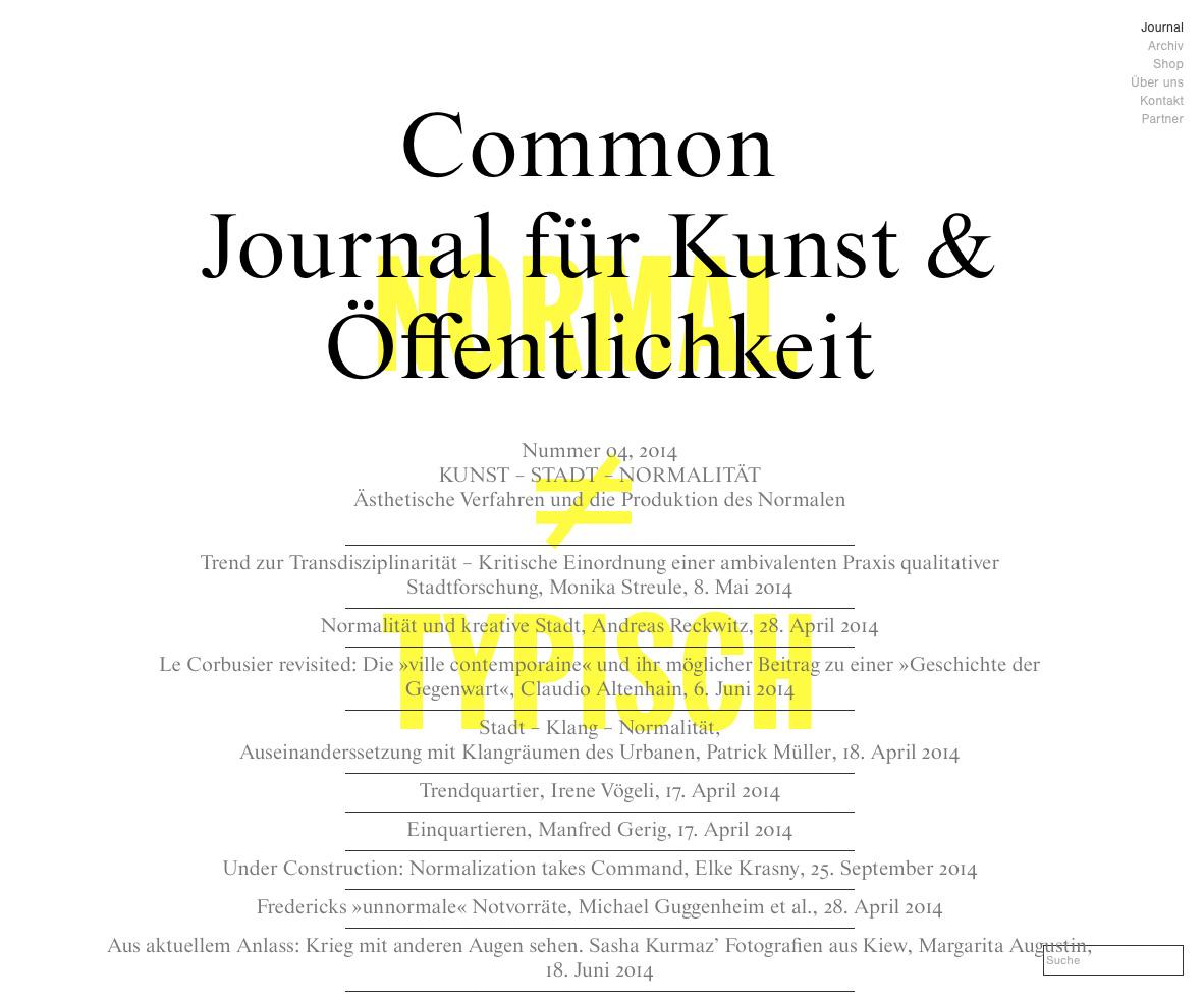 Common_Journal-für-kunst-&-öffentlichkeit_no.04_kunst-stadt-normalität